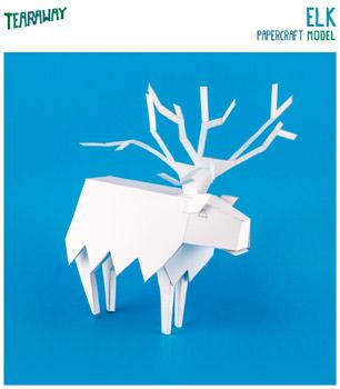 Elk-papercraft