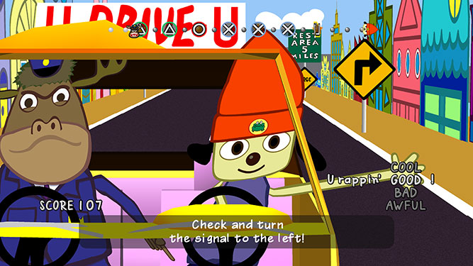 PaRappa the Rapper driving