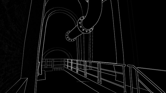 stifled image of corridor