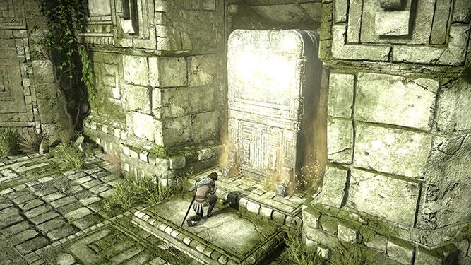 Praying at a shrine