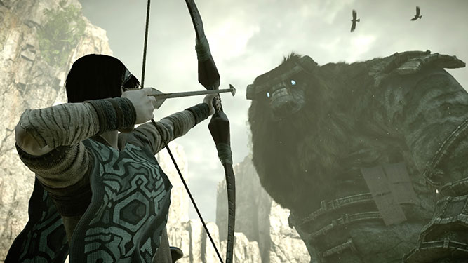 Aiming arrow at a colossus