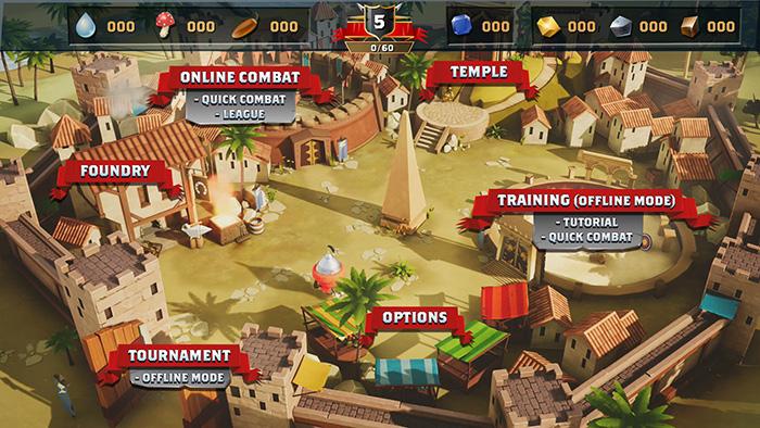 Town Map menu page