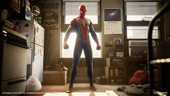 Spider-man in his bedroom