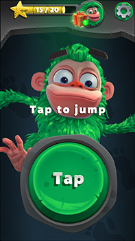 tap to jump button