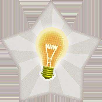 think bulb star