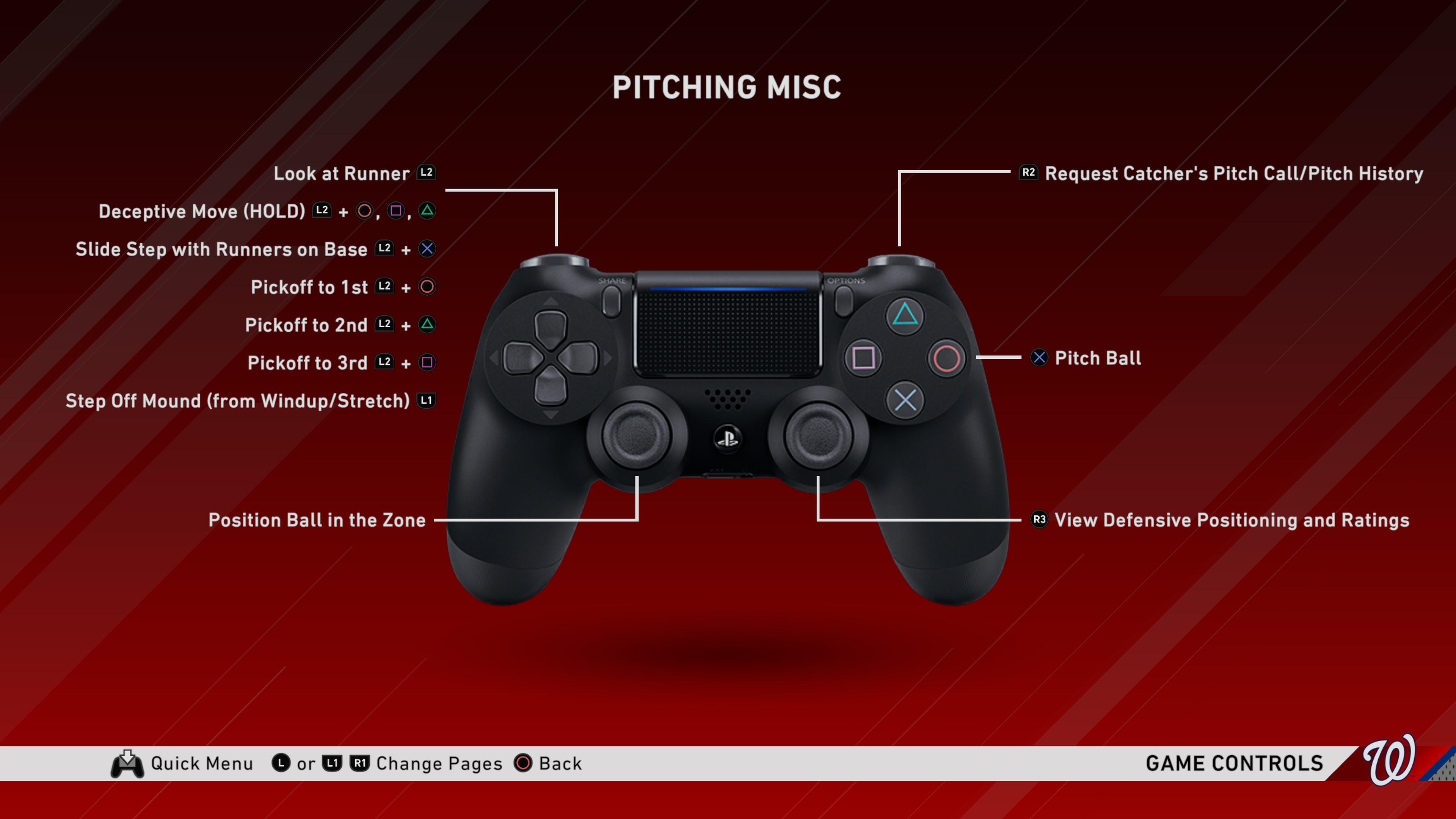 pitching control setting