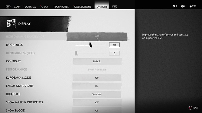 Display customisation option in UI