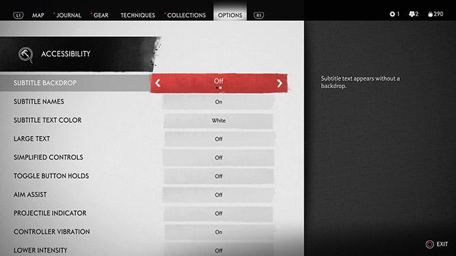 subtitle backdrop option in UI